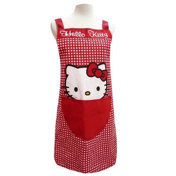 【Hello Kitty】格子圍裙KT-0783
