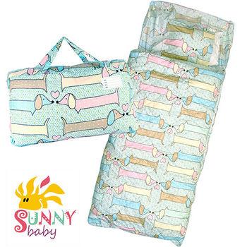 【Sunnybaby生活館】-  冬夏兩用兒童睡袋 _長條狗情侶