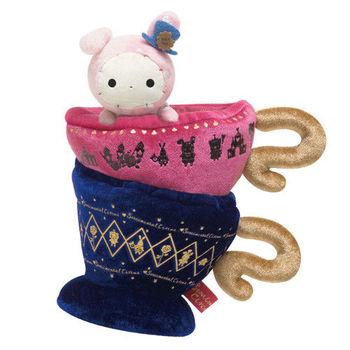San-X 魔幻馬戲團愛麗絲夢遊仙境系列立體毛絨收納盒 魔法杯