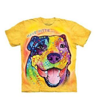【摩達客】(預購)美國進口The Mountain 彩繪羅威納犬臉 純棉環保短袖T恤