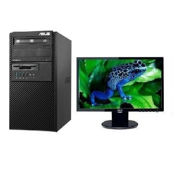【ASUS華碩】BM1AD G3260雙核 Win7Pro PC+VE198T 19吋LCD 組