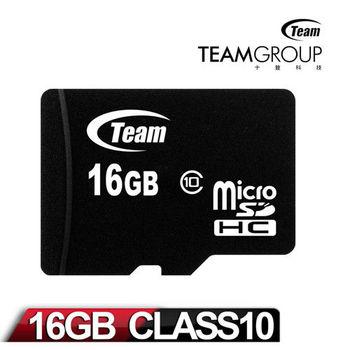 Team 十銓科技 Micro SDHC 16GB Class10 高速記憶卡(附轉卡)