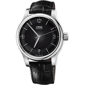 Oris Classic Date 經典都會時尚機械腕錶-黑/42mm 0173375944034-0752011