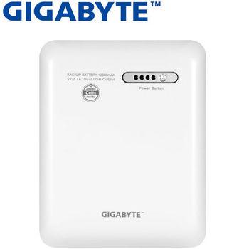 GIGABYTE 技嘉 12000mAh行動電源 RF-G1BB1 白