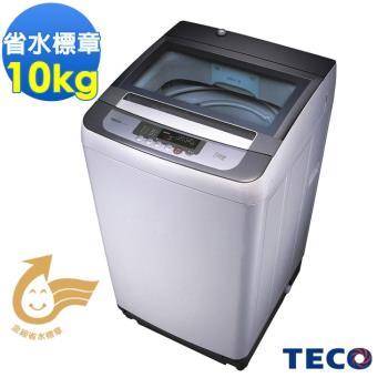福利品 東元10公斤FUZZY人工智慧小蠻腰定頻洗衣機W1038FW