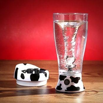 攪拌杯  自動攪拌杯奶牛款 便攜式攪拌杯 多功能電動攪拌杯 懶人杯 咖啡杯 牛奶杯(FFK001)