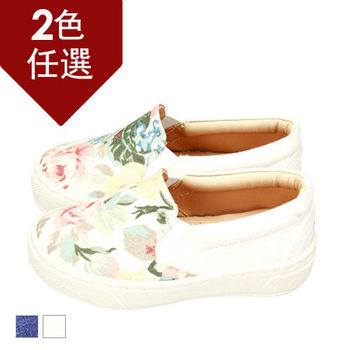 FUFA MIT 古典玫瑰懶人童鞋( FNB08)-白花