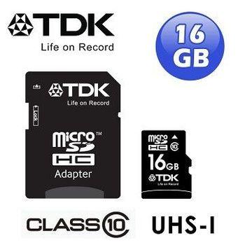 TDK micro SDHC CLASS10 UHS-1記憶卡16GB(附轉卡)