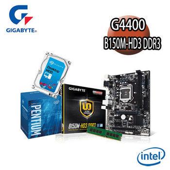 【技嘉組合】Intel G4400+B150M-HD3 DDR3主機板+4G記憶體+1TB硬碟 優質組合