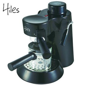 Hiles義式高壓蒸氣咖啡機HE-301(寧靜黑)