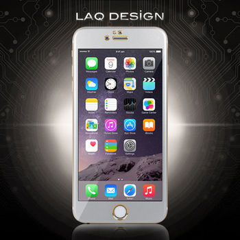 LAQ DESIGN iPhone6s / 6 Plus (5.5吋) 鋁合金滿版鋼化玻璃保護貼