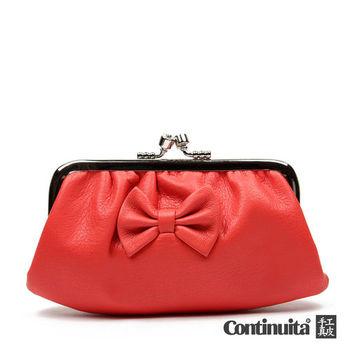 【Continuita 康緹尼】台灣手工真皮包 MIT 雙夾層蝴蝶零錢包 - 5色