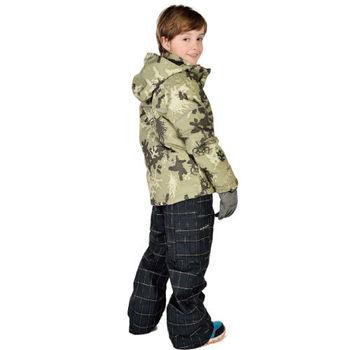 【聖伯納 St.Bonalt】男中童-鋪棉滑雪外套-軍綠迷彩(7030)