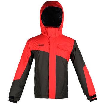 【聖伯納 St.Bonalt】男童-雙色拼接防水滑雪外套-紅色(3015)