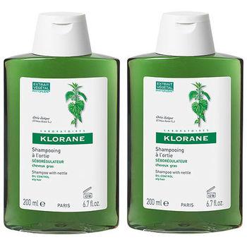 KLORANE蔻蘿蘭 控油洗髮精(200ml) 二入組