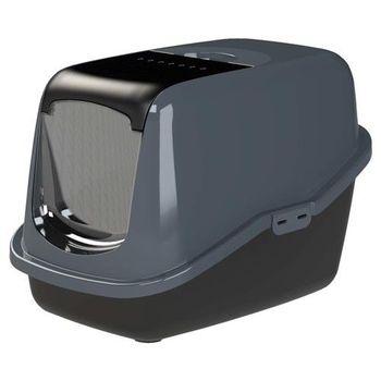 PeeWee必威 屋型雙層貓便盆-碳黑