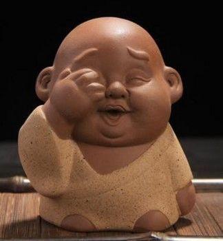 精品紫砂茶寵茶玩三不小和尚茶寵擺件03