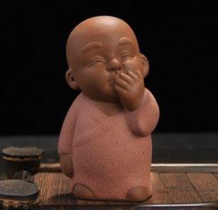 精品紫砂茶寵茶玩三不小和尚茶寵擺件02