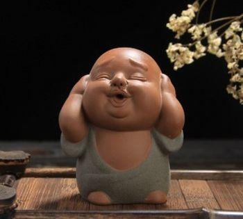 精品紫砂茶寵茶玩三不小和尚茶寵擺件01