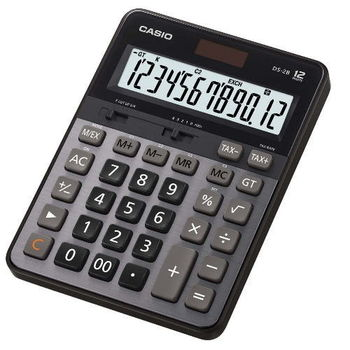 CASIO卡西歐‧12位數頂級雙電源桌上型商務計算機DS-2B