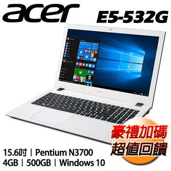 ACER 宏碁 E5-532G-P3DA 15.6吋 N3700四核心 獨顯NV920 2G Win10超值筆電 純淨白