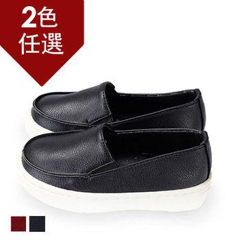 FUFA MIT 帥性頹廢舒適懶人童鞋( FNB21) 黑色