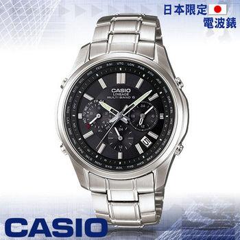 【CASIO 卡西歐】日系_三眼太陽能電波男錶(LIW-M610D 黑)