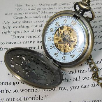 鏤空雕花機械懷錶