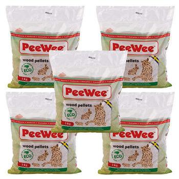 【PeeWee】必威 強效松木砂/貓砂 3公斤 X 5包