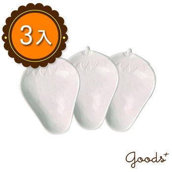 【goods+】簡約和風 草莓陶瓷醬料碟/小菜碟/點心盤(3入)_PD03(小)