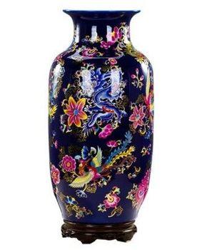 景德鎮陶瓷歐式落地花瓶客廳電視櫃旁大擺件03