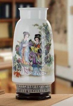 景德鎮陶瓷器花瓶客廳擺件玫瑰花鳥落地花瓶05