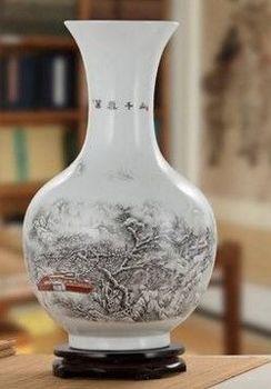 景德鎮陶瓷器花瓶客廳擺件玫瑰花鳥落地花瓶04