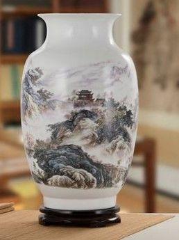 景德鎮陶瓷器花瓶客廳擺件玫瑰花鳥落地花瓶02