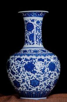 德鎮青花瓷花瓶復古現代簡約經典08