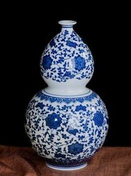 德鎮青花瓷花瓶復古現代簡約經典07