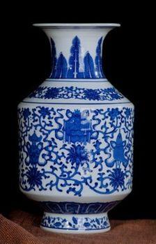 德鎮青花瓷花瓶復古現代簡約經典06