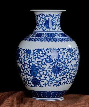 德鎮青花瓷花瓶復古現代簡約經典05