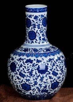 德鎮青花瓷花瓶復古現代簡約經典
