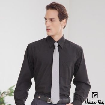 Valentino Rudy范倫鐵諾.路迪 長袖襯衫-黑色素面