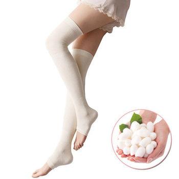 日本SUNFAMILY 蠶絲超柔軟著壓機能美腿襪