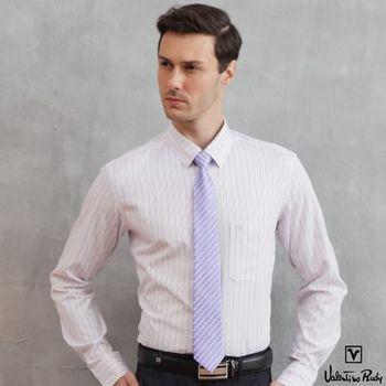 Valentino Rudy范倫鐵諾.路迪 長袖襯衫-紫斜紋