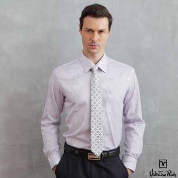 Valentino Rudy范倫鐵諾.路迪 長袖襯衫-深紫直條
