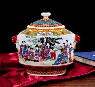 景德鎮陶瓷器歐式小花瓶擺件創意家居擺設03