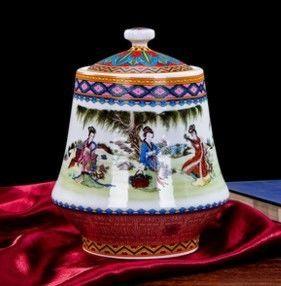 景德鎮陶瓷器歐式小花瓶擺件創意家居擺設02