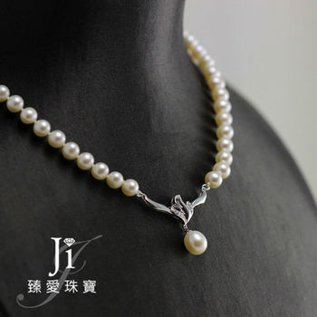 Ji臻愛 超美天然珍珠項鍊(飛揚款)