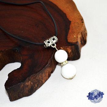 【龍吟軒】白硨磲葫蘆轉運珠項鍊/吊飾