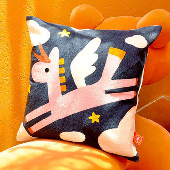 義大利Fancy Belle X Malis《小飛行》毛巾繡靠墊 45*45CM