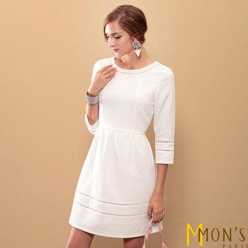 MONS 氣質柔美純白緹花洋裝