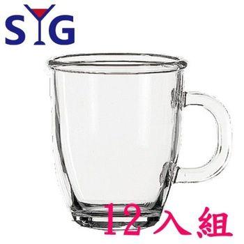 SYG透明玻璃拿鐵杯-445cc-12入組